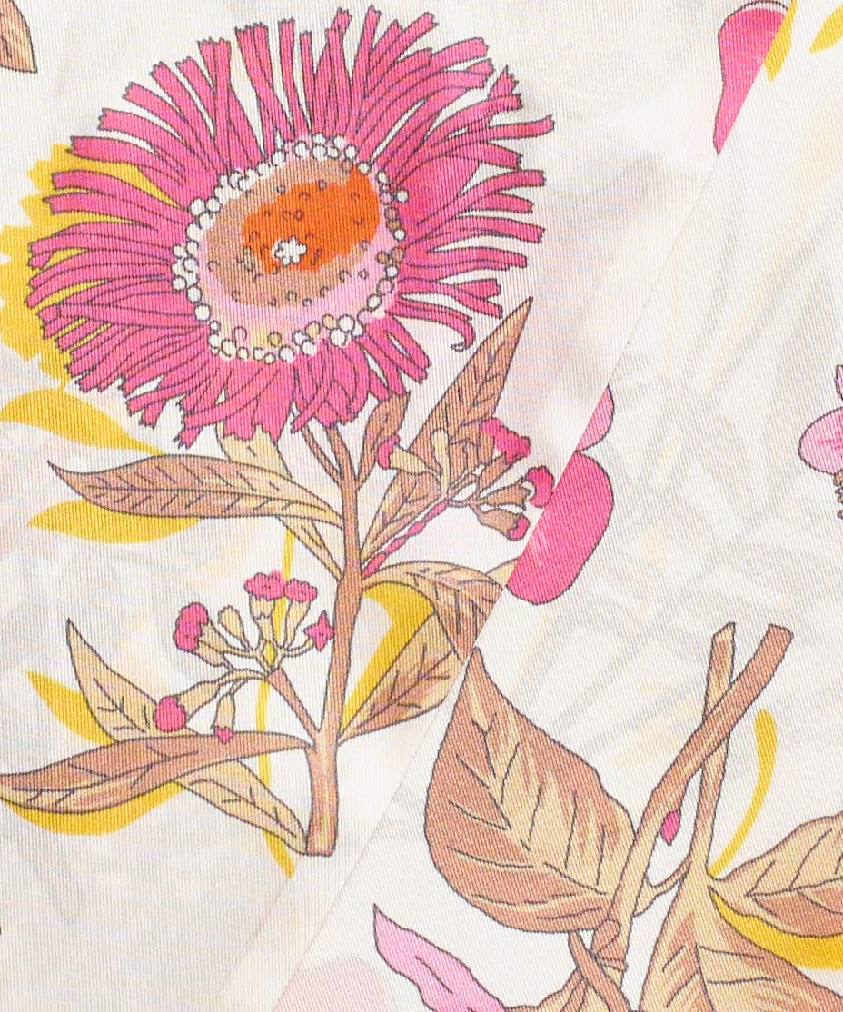 Flamingo - Floral Silk Oblong
