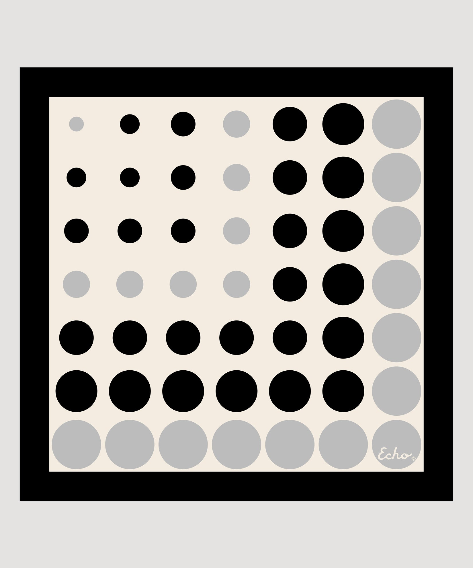White - Polka Dot Silk Square