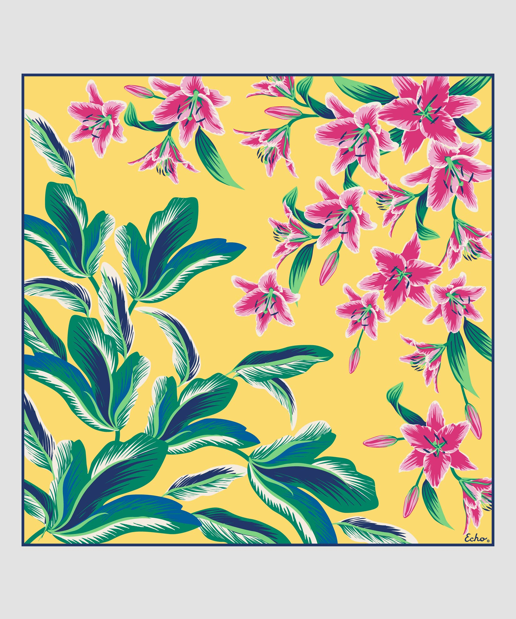 Banana - Tropical Palms Silk Square