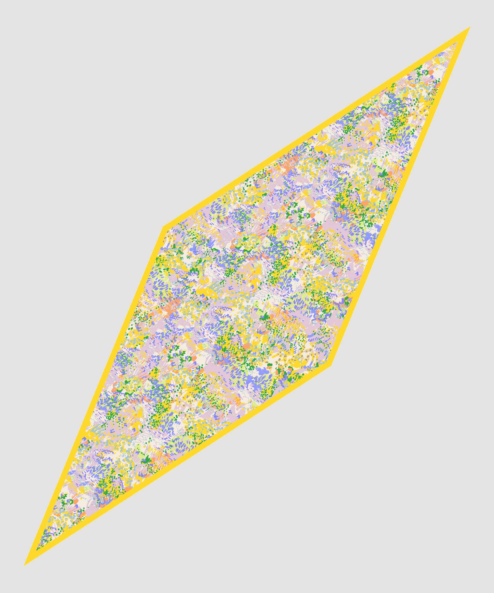 Banana - Ditzy Floral Silk Diamond