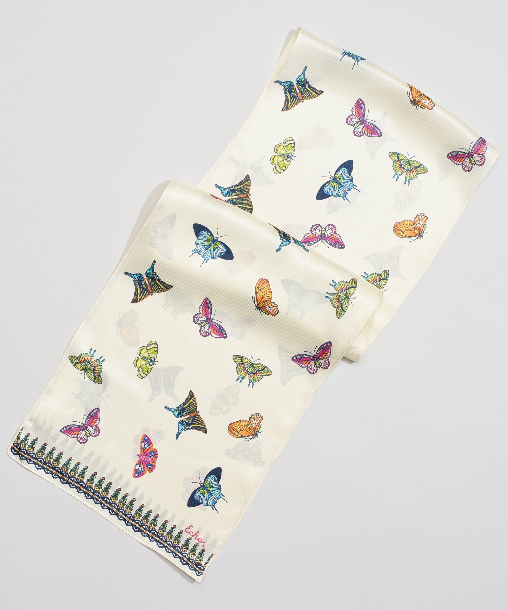 Multi - Butterfly Silk Oblong