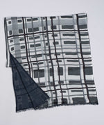 Black - Painted Plaid Tubular Silk Wrap