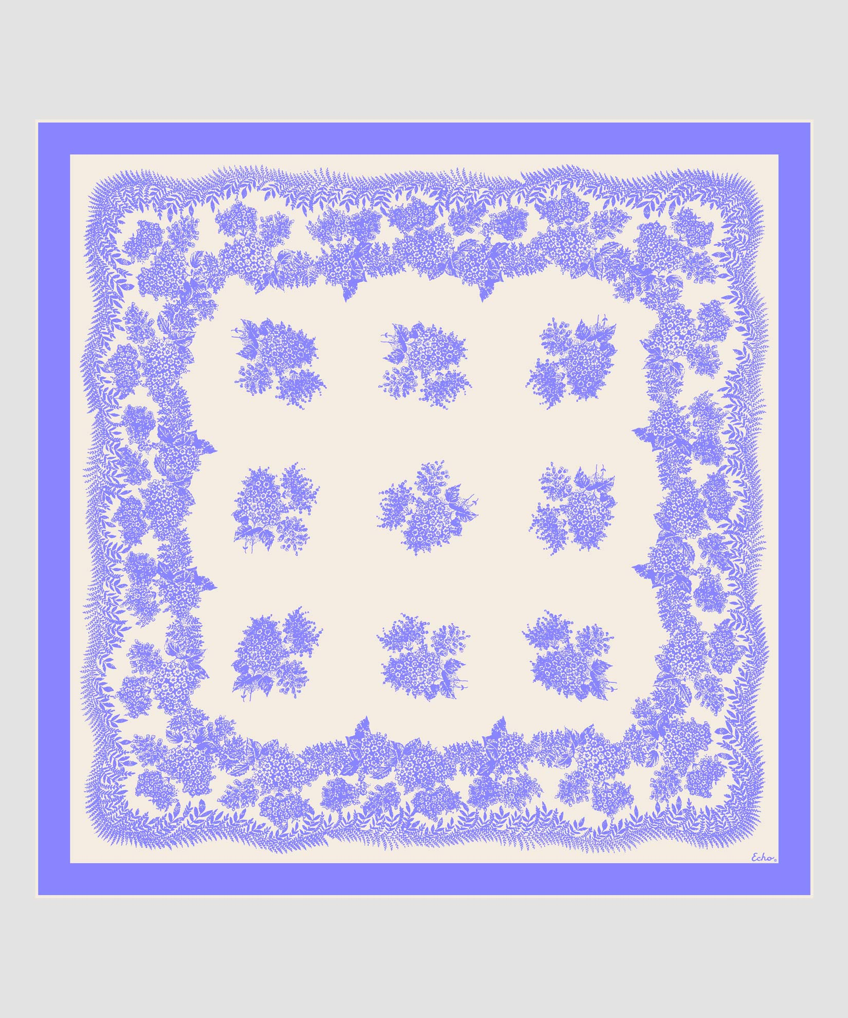 Iris - Floral Bi-Color Silk Square
