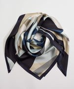 Black - Tropical Geo Silk Square