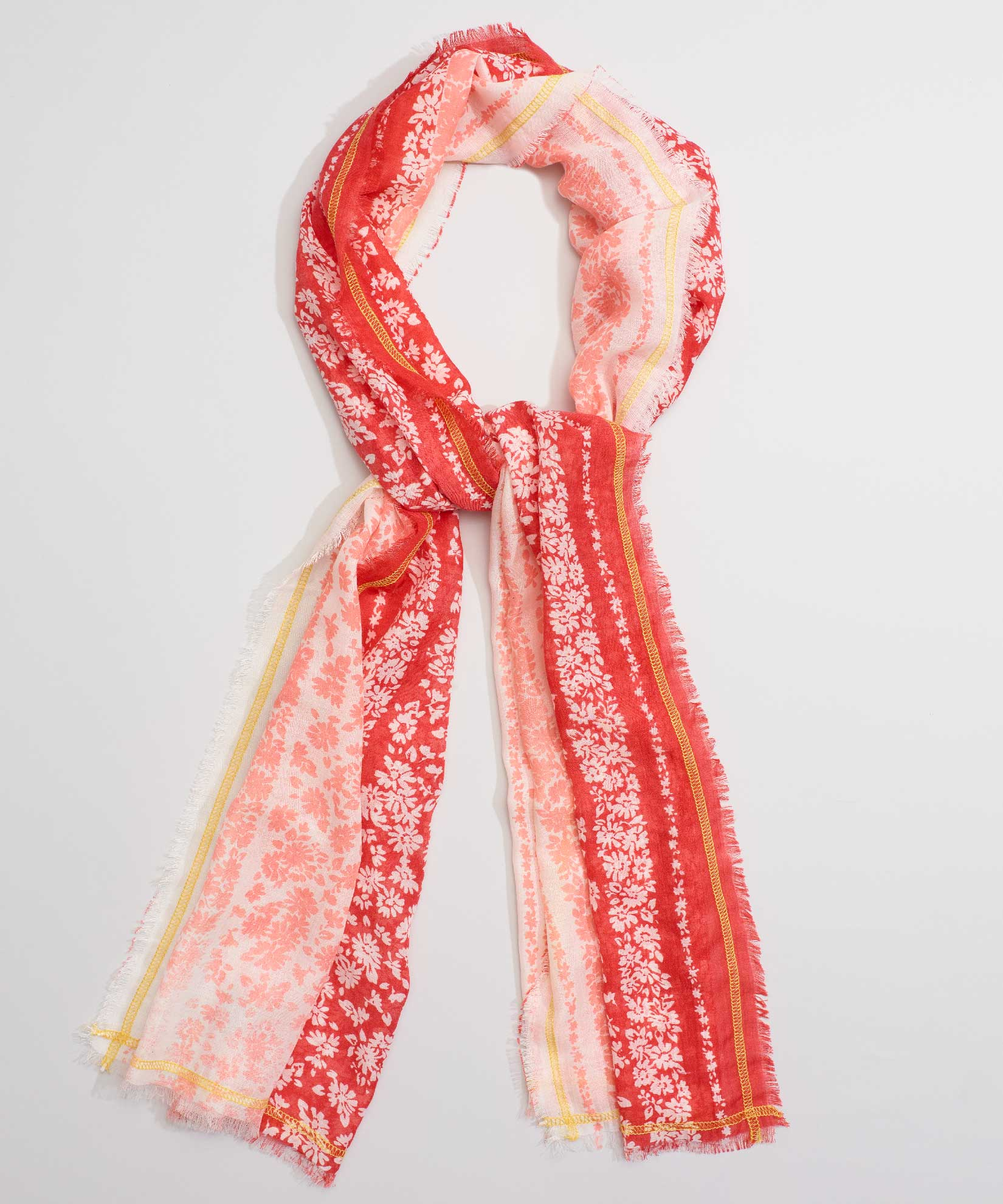 Resort Red - Floral Stripe Oblong