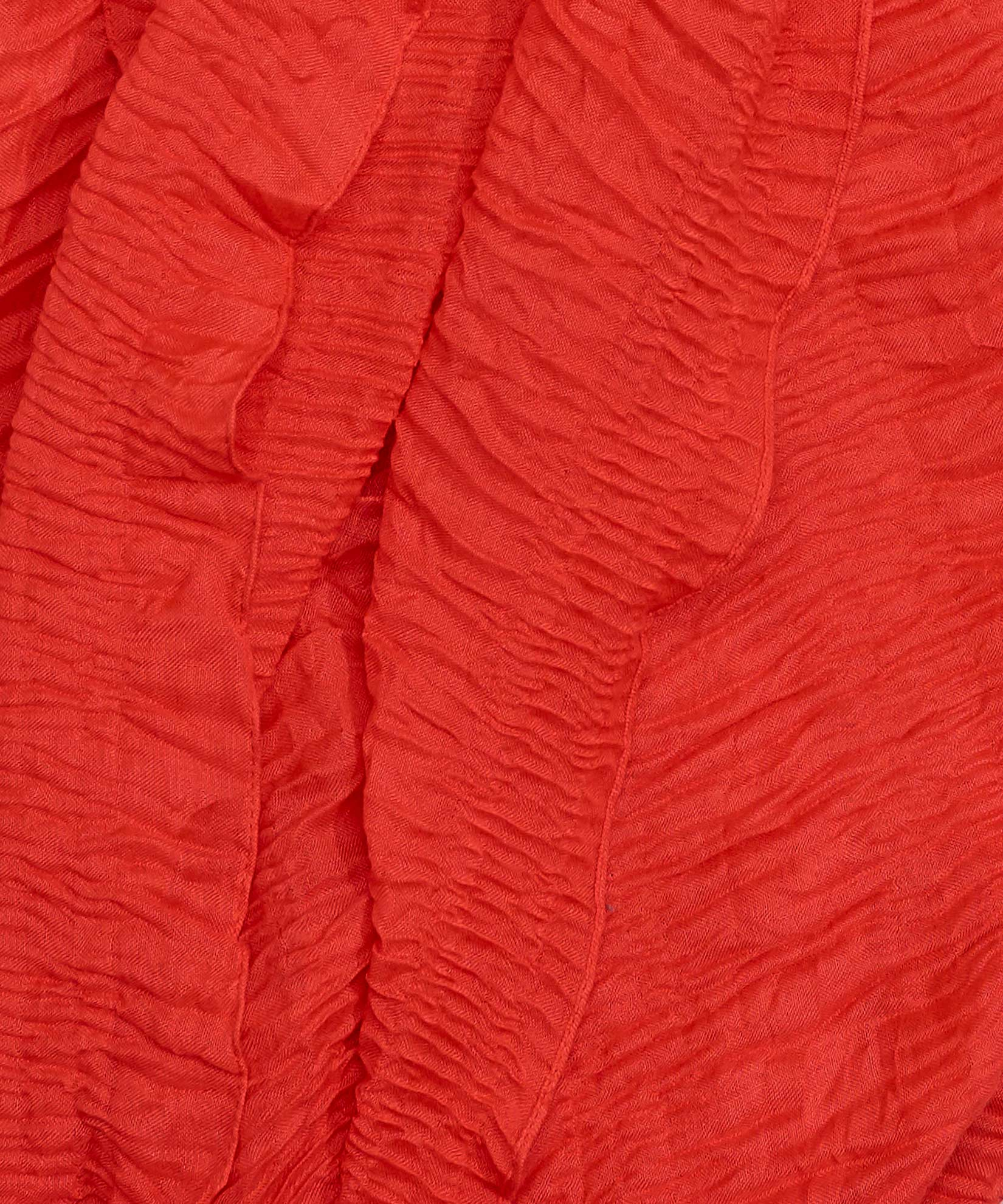 Hot Coral - Pleated Ruffle Oblong