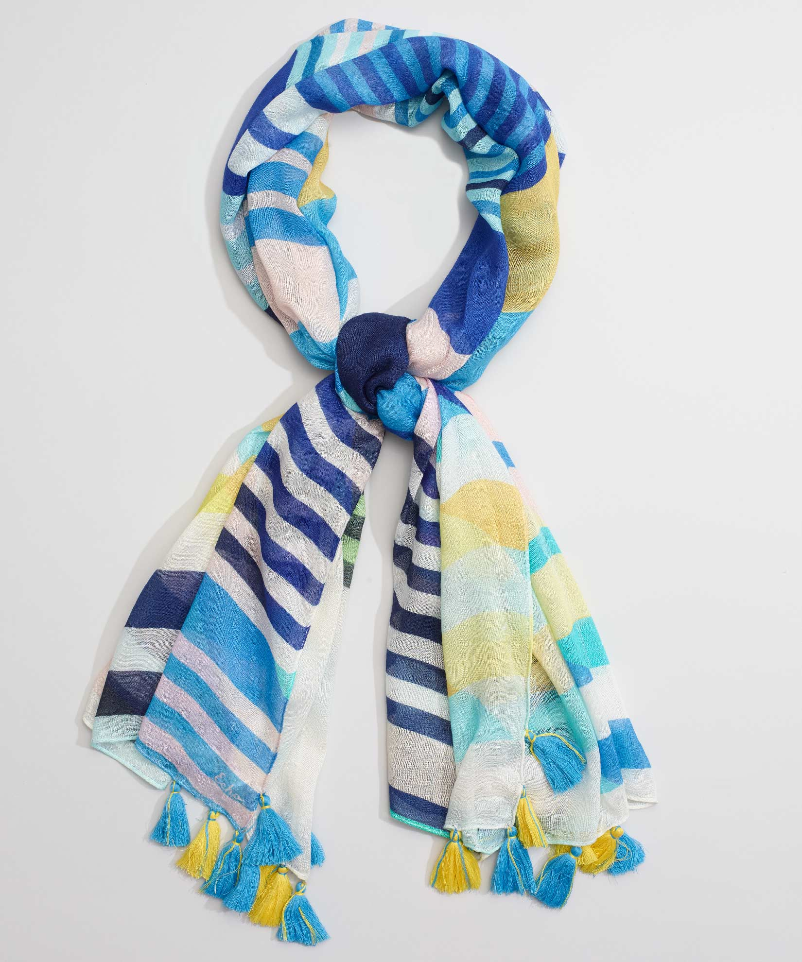Coastal Blue - Stripes On Stripes Oblong