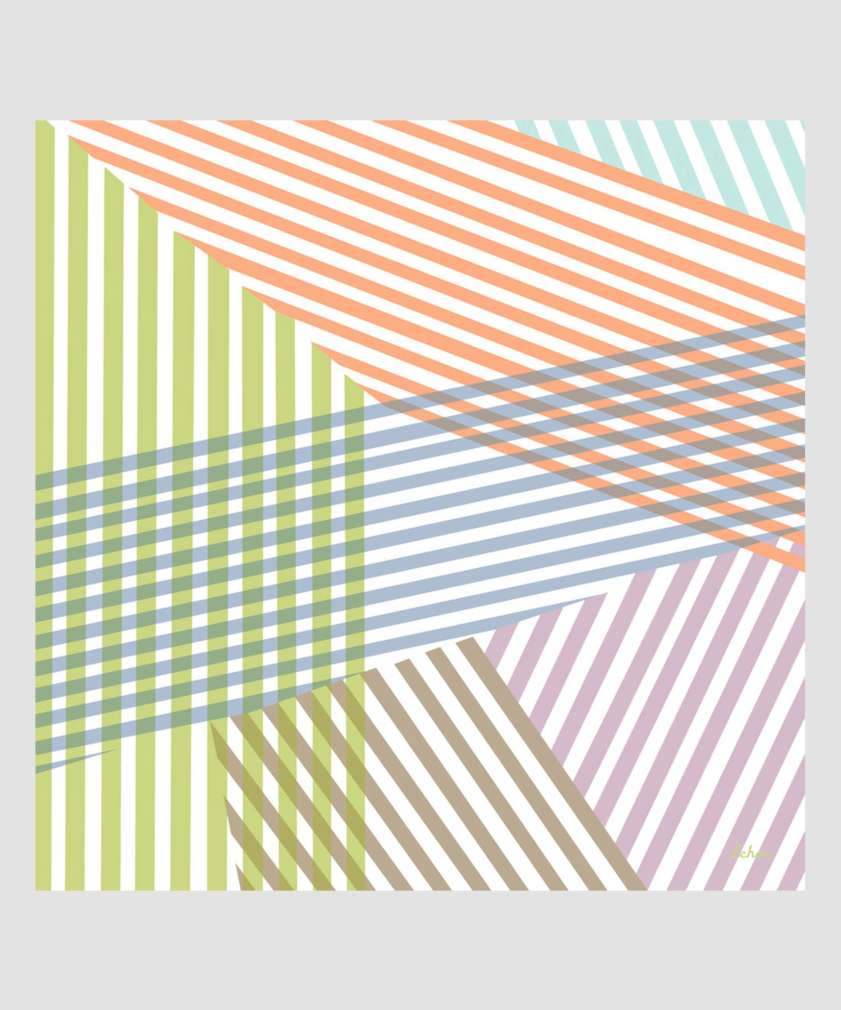 Sky - Colorful Stripe Square