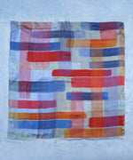 Sky - Patchwork Stripe Over Dyed Square