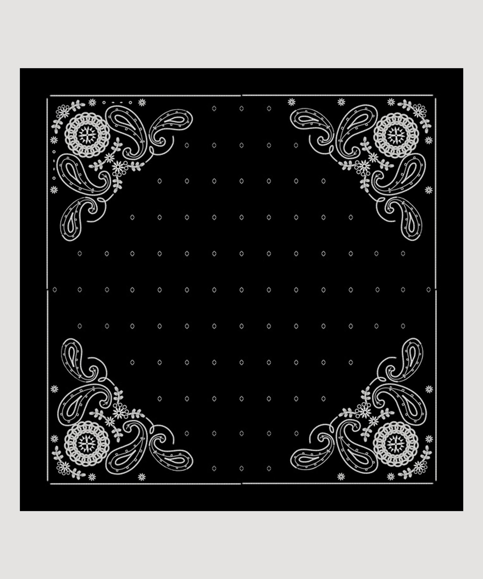 Black - Embroidered Bandana