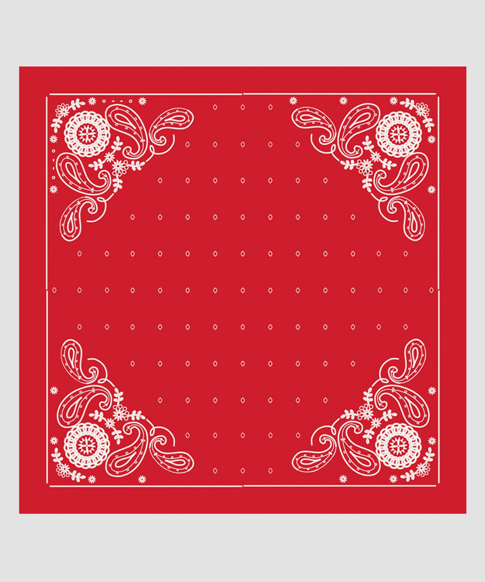 Resort Red - Embroidered Bandana