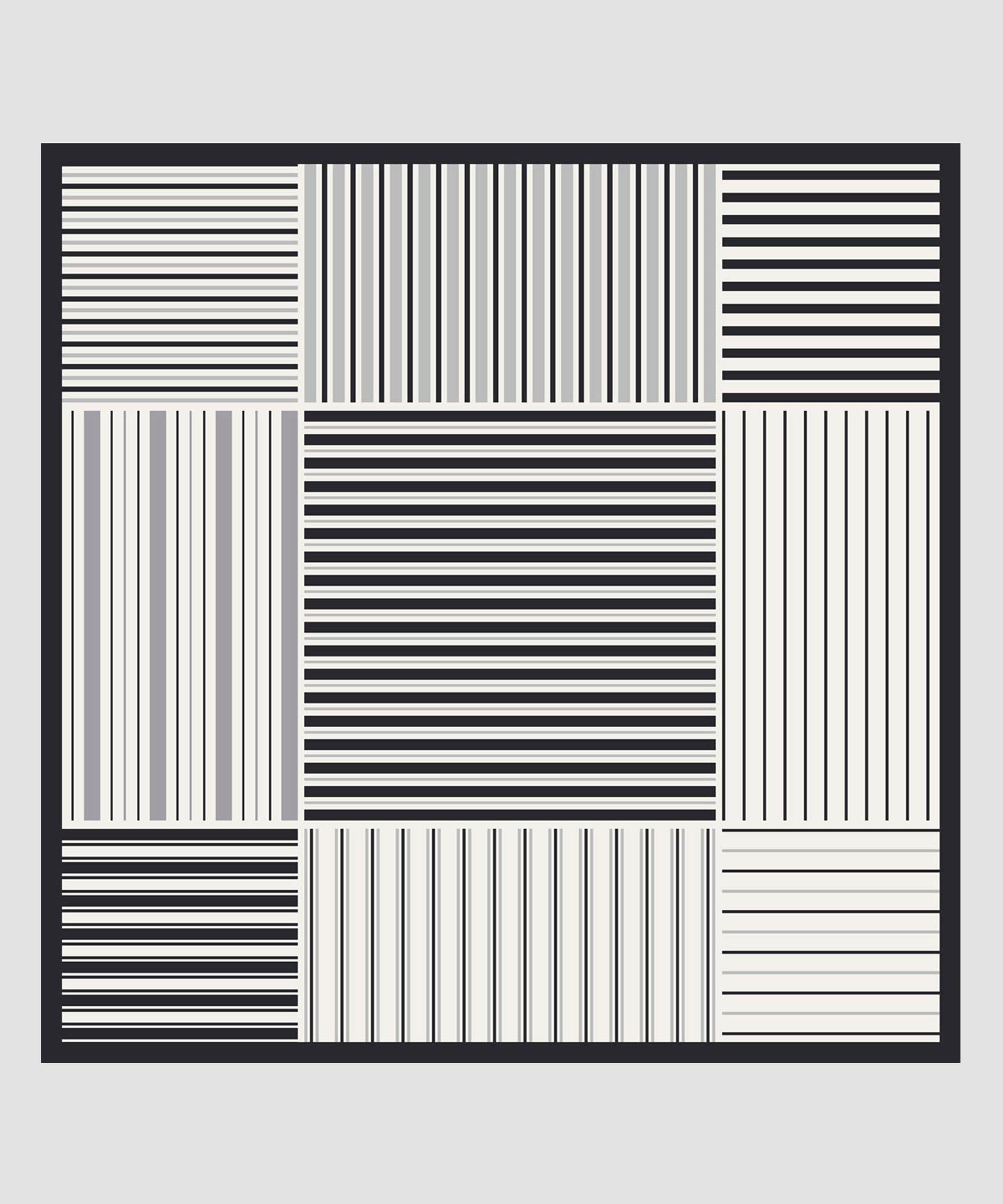 Black - Stripes On Stripes Pleated Diamond