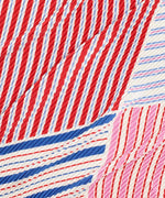 Navy - Stripes On Stripes Pleated Diamond