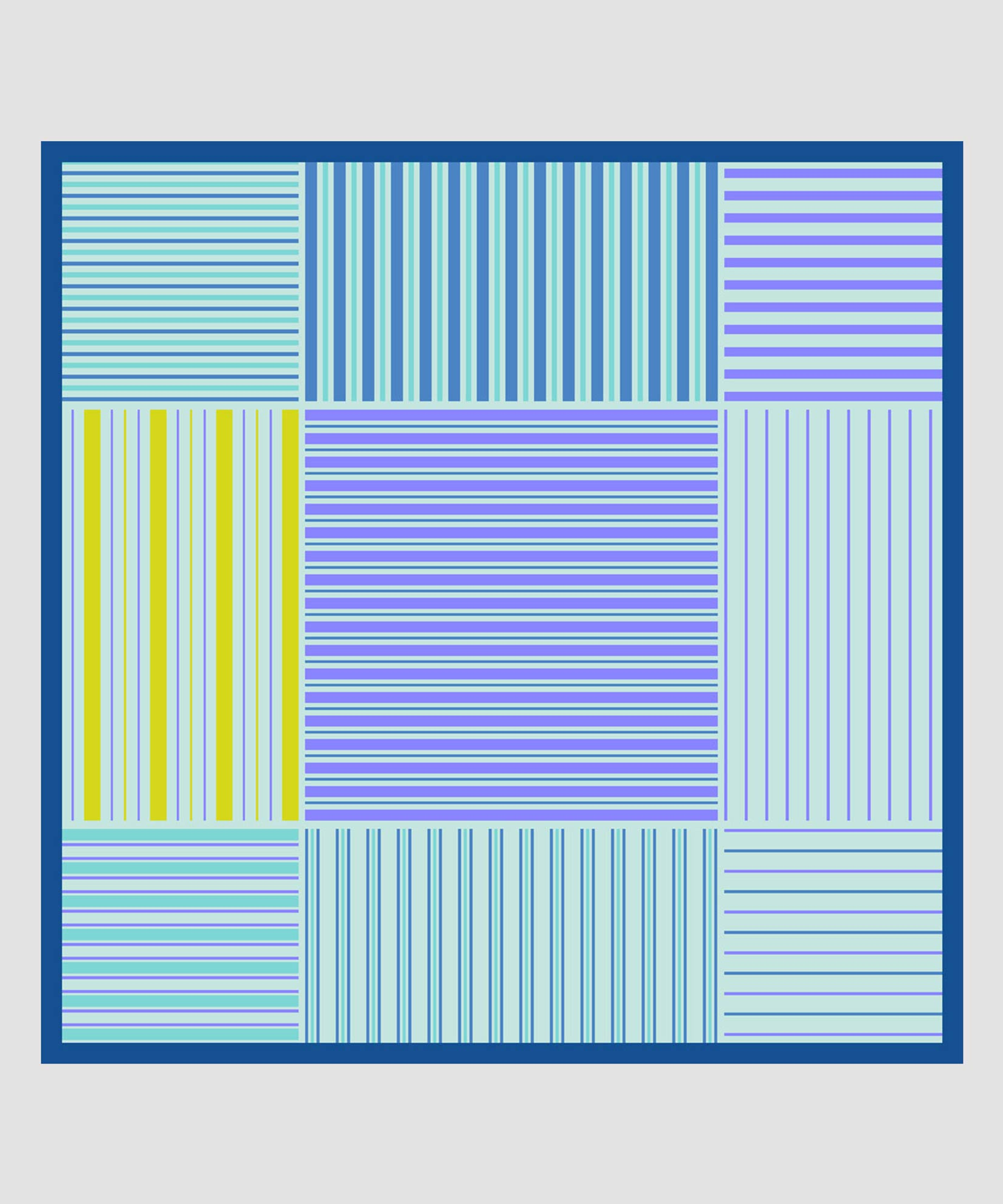 Coastal Blue - Stripes On Stripes Pleated Diamond