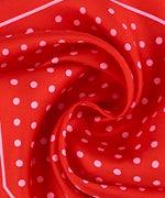 Resort Red - Dotty Silk Diamond