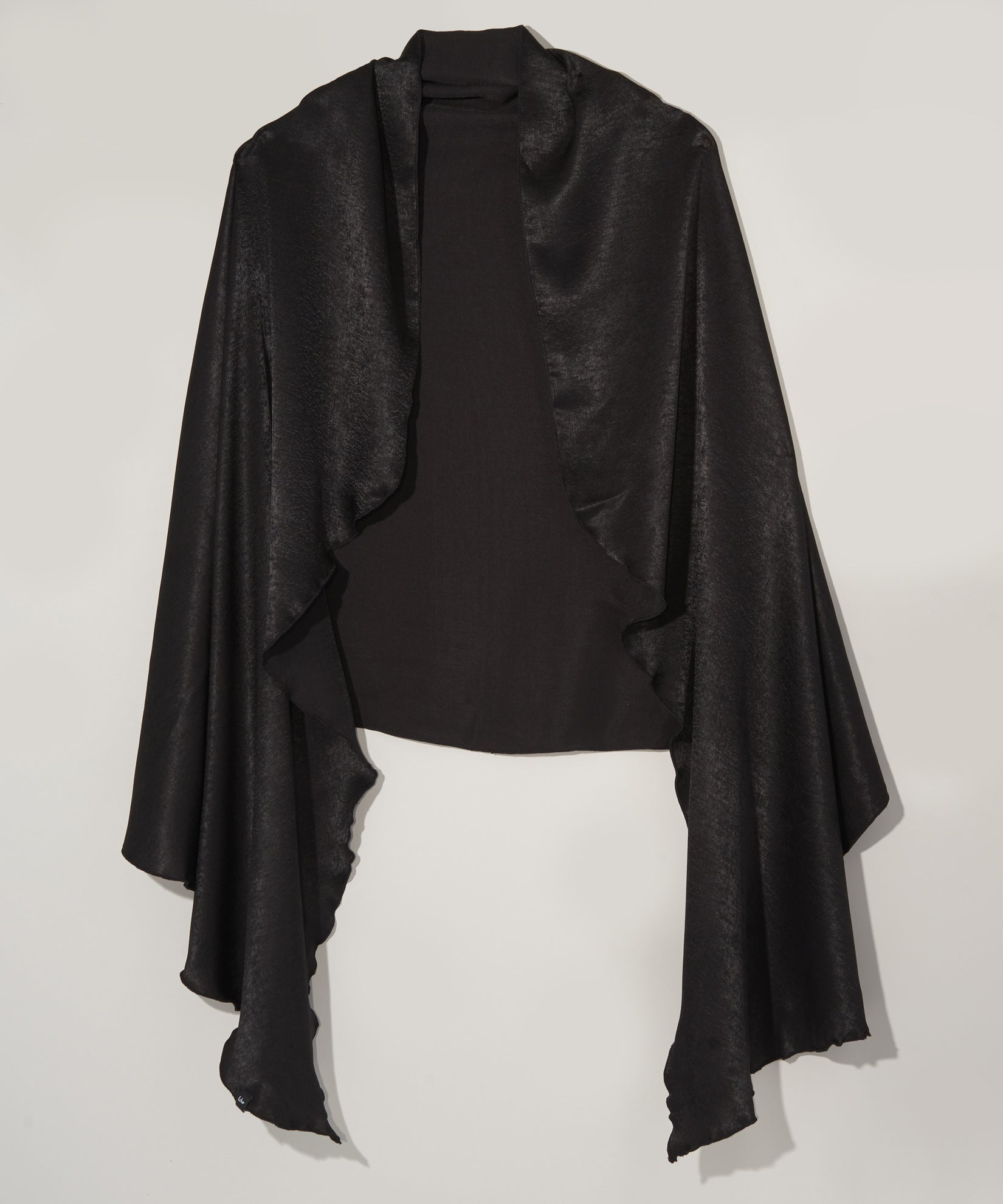 Echo Black - Stole With Curly Edge