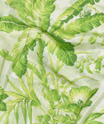 Green - Tropical Toile Silk Oblong