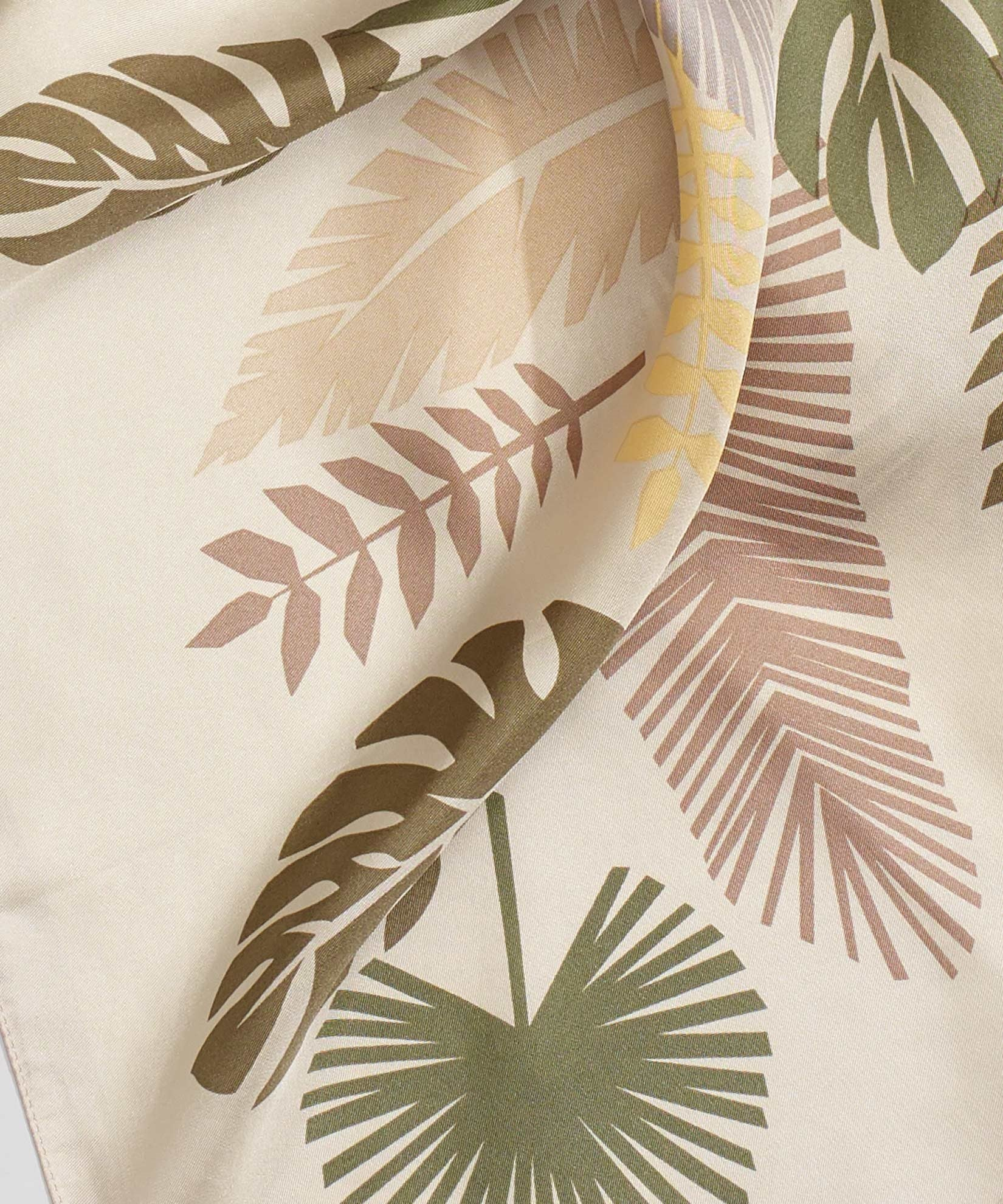 Sand - Summer Palms Silk Square