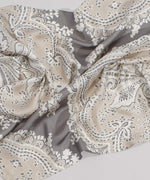 Slate - Ornate Paisley Oversize Silk Diamond