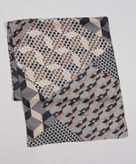 Black - Geo Silk Oblong