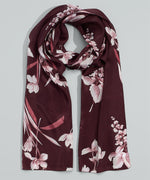 Fig - Floral Painting Silk Oblong