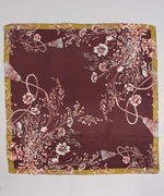 Fig - Floral Tassel Silk Square