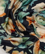 Blue Spruce - Floral Bloom Silk Square