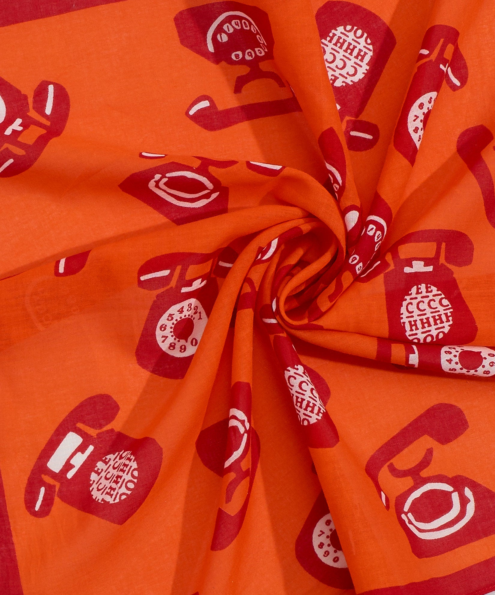 Orange Poppy - Ring Ring Bandana