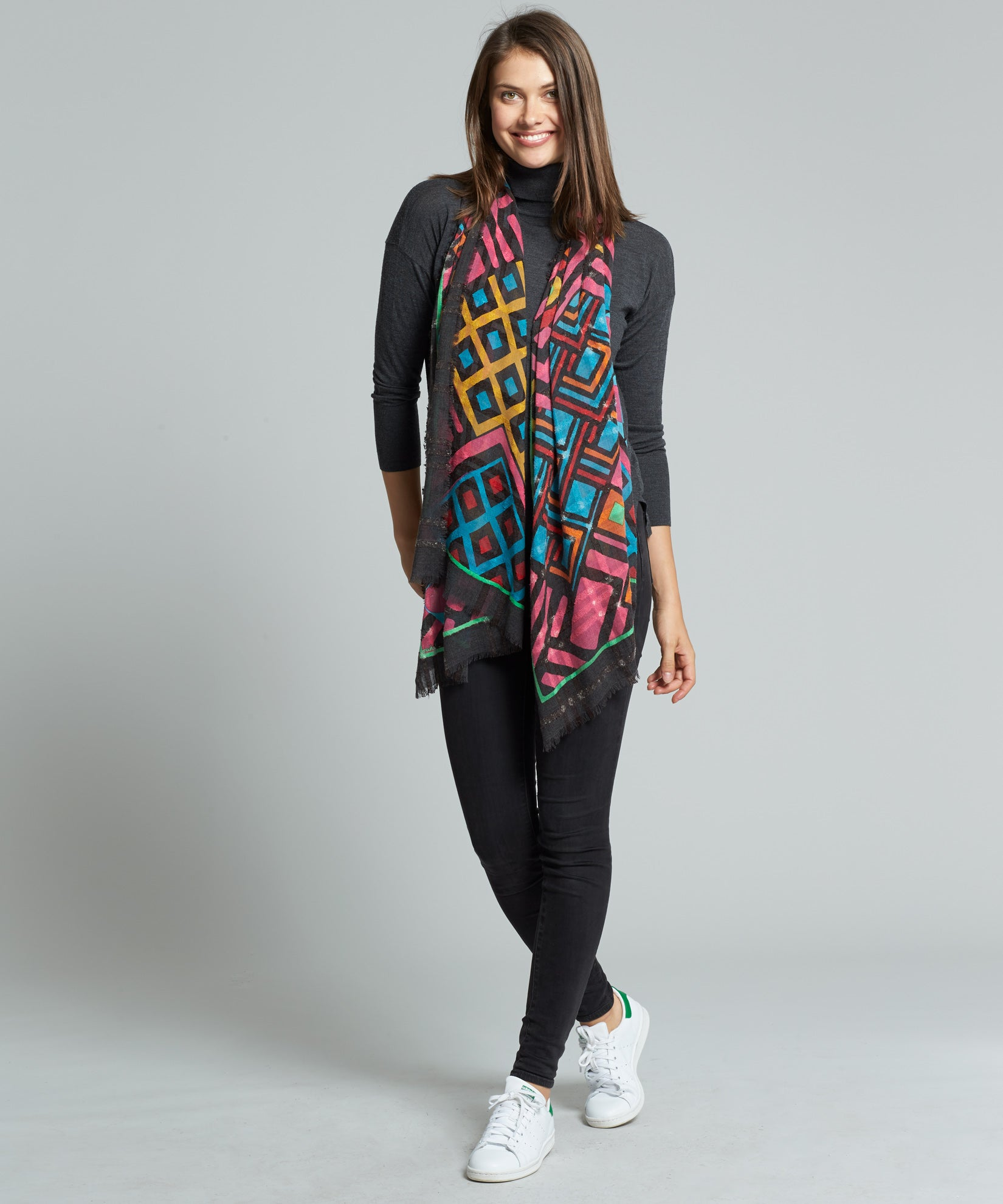 Multi - Graphic Patchwork Oblong