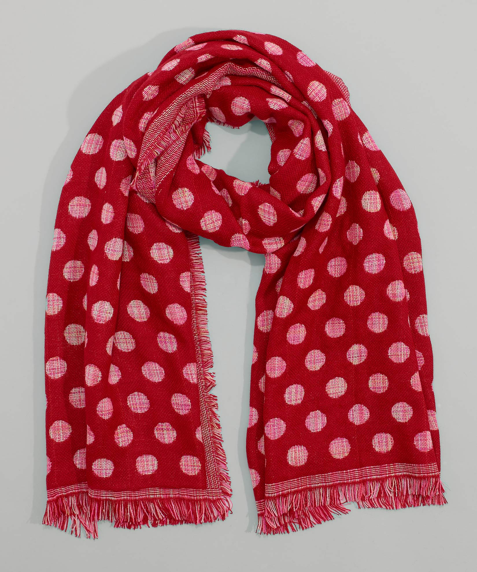 Cherry Red - Polka Dot Oblong