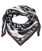 Black - Vintage Zebra Silk Square