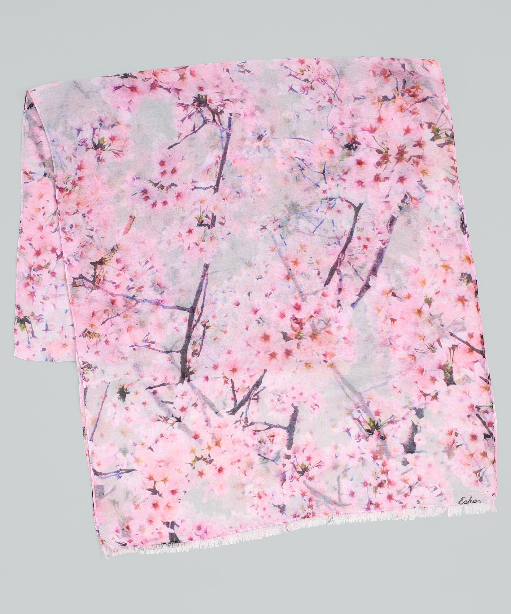 Silver - Cherry Blossoms Oblong