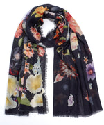 Black - Enchanting Floral Oblong