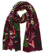 Garnet - Lounging Zebra Embroidered Wrap