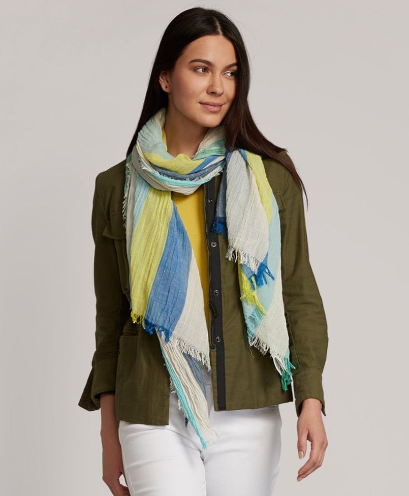 Sea Blue - Resort Stripe Wrap