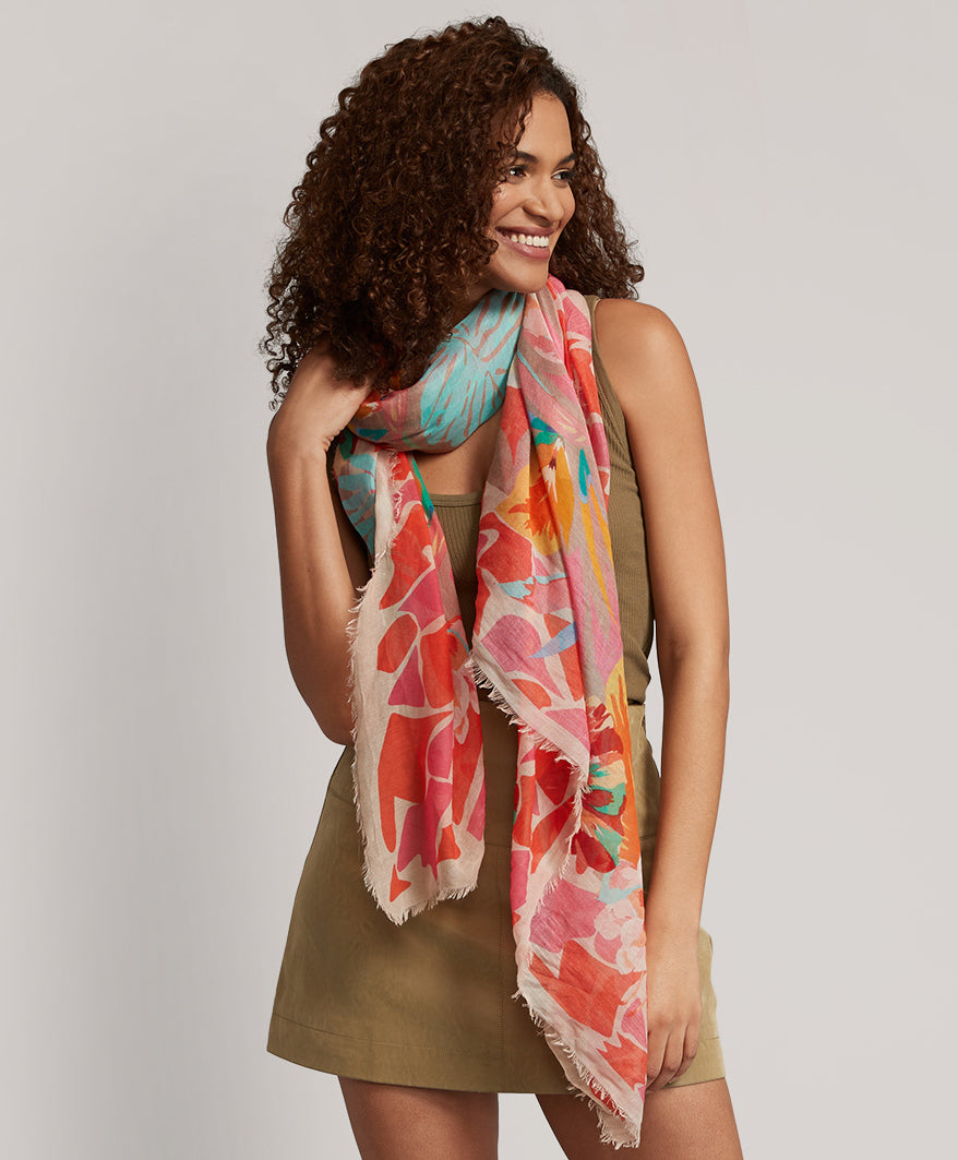 Pink Hibiscus - Tropic Floral Wrap