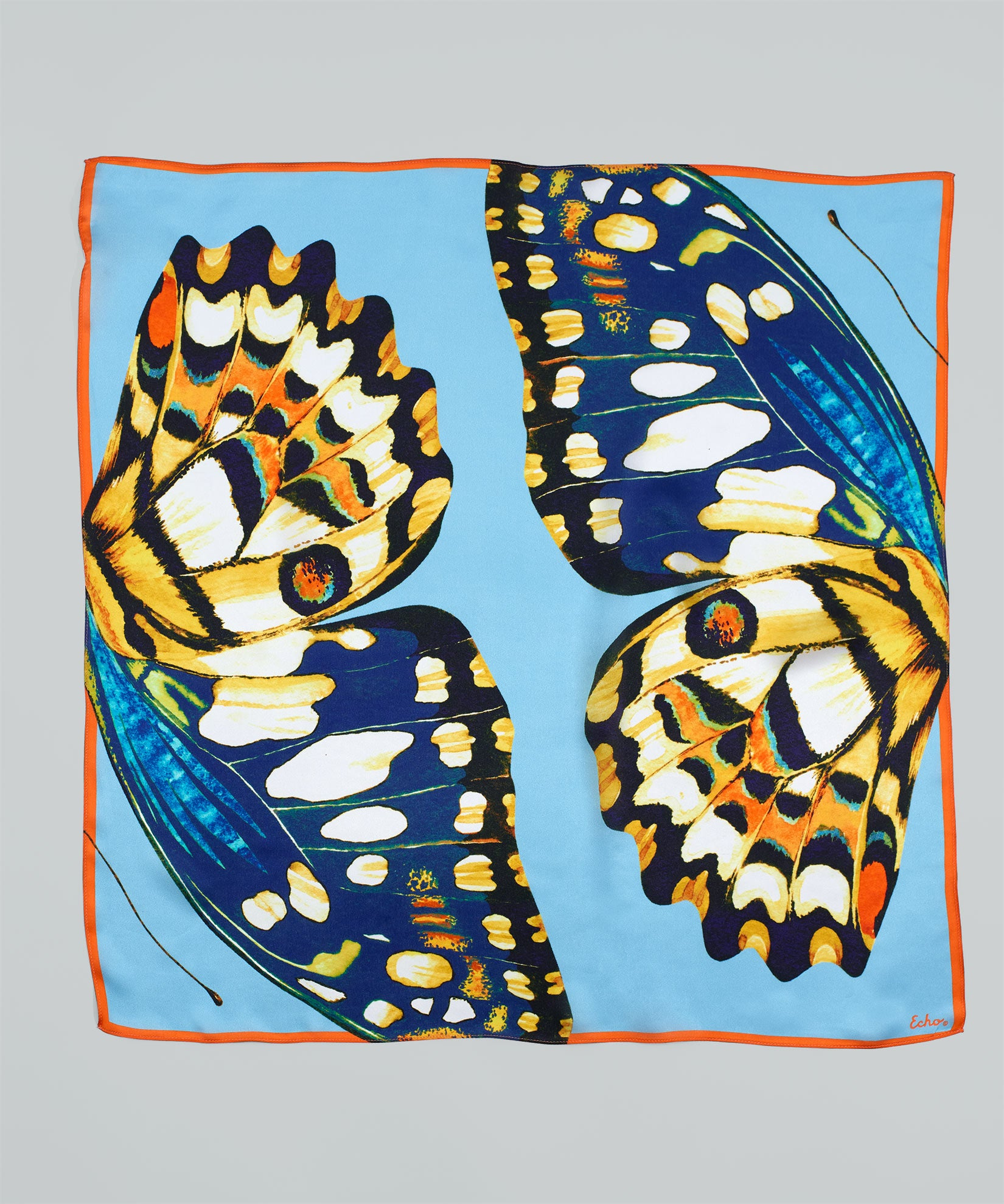 Azul - Butterfly Wings Silk Square