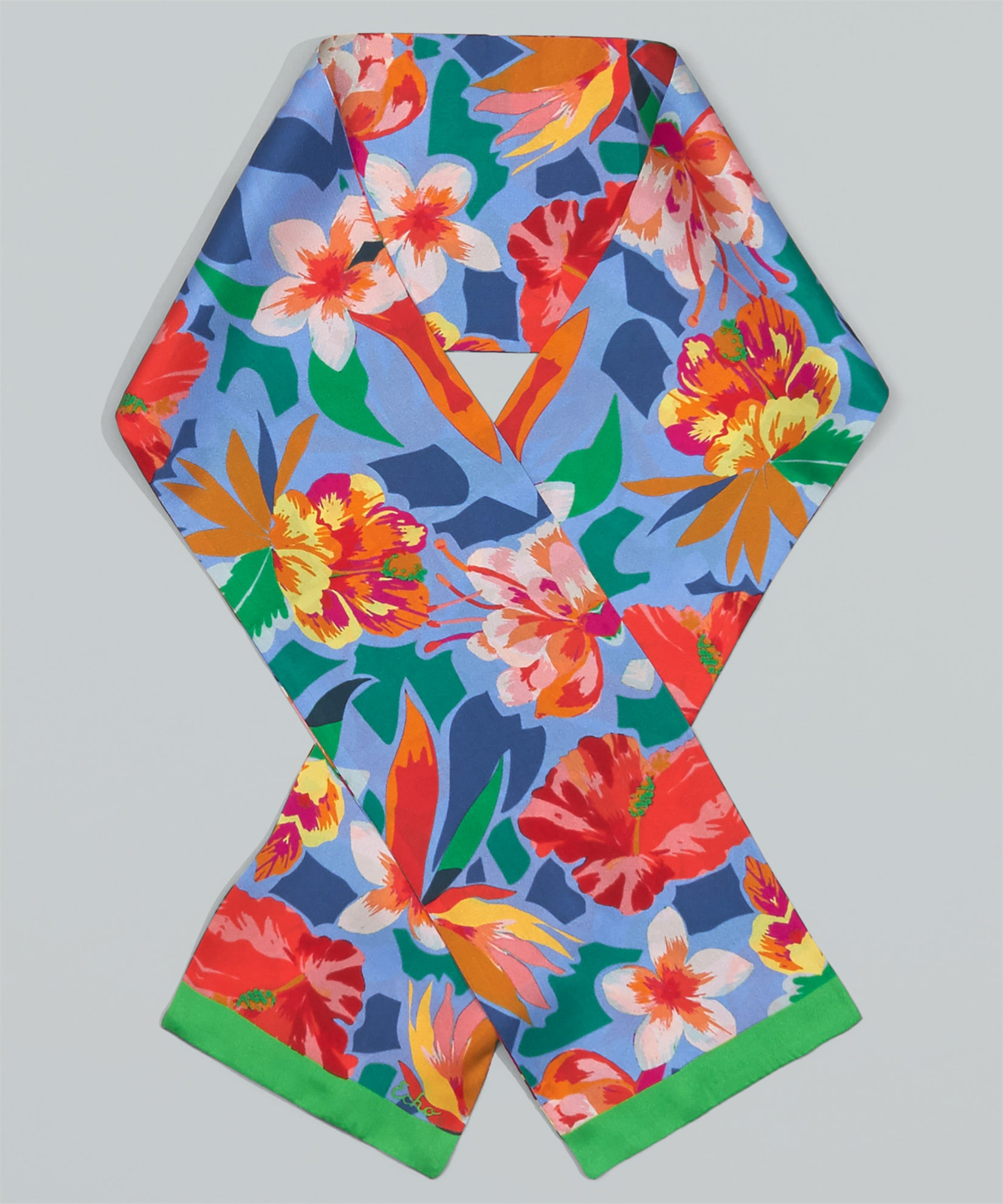 Azul - Tropic Floral Tubular Silk Oblong