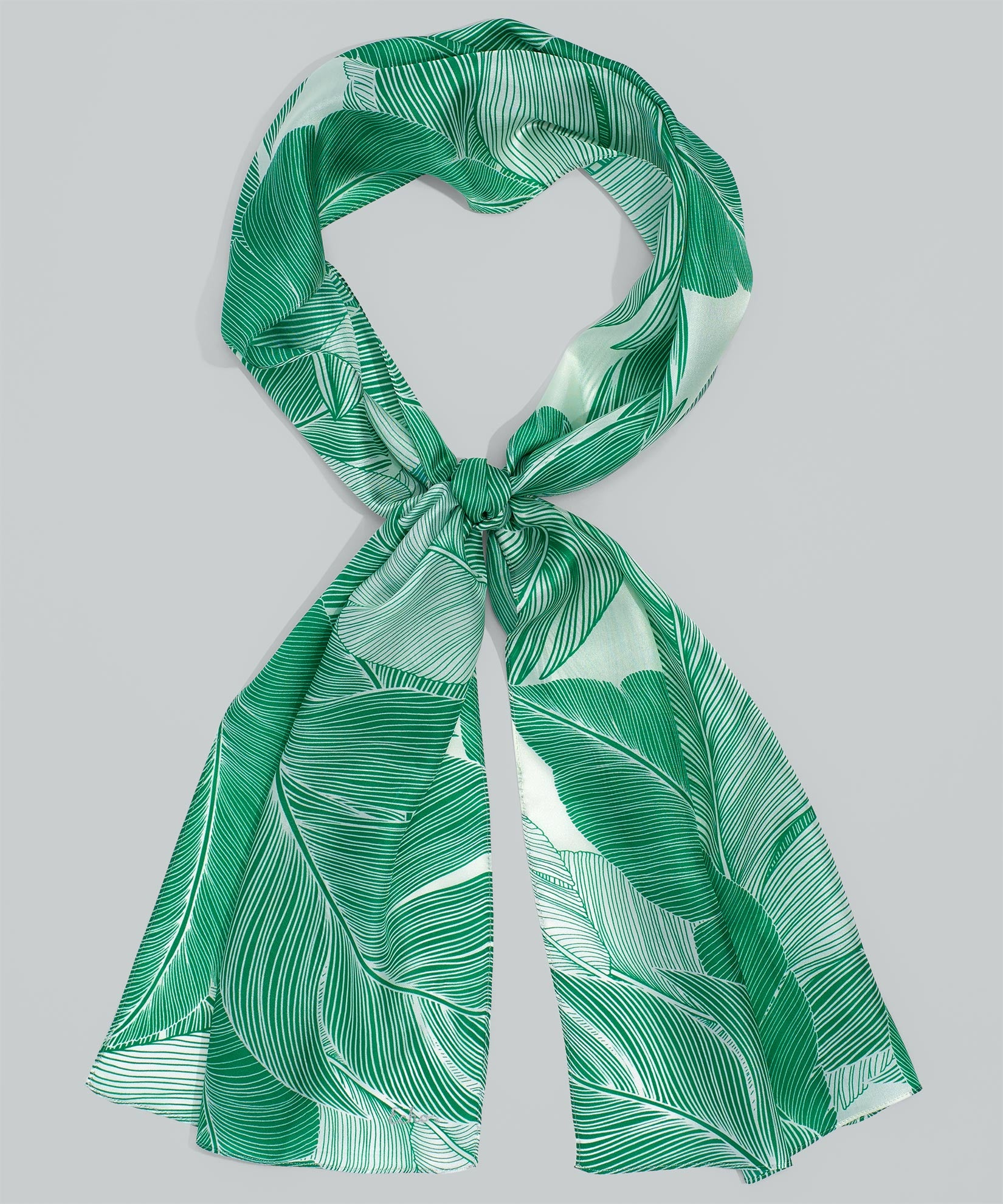 Aqua - Tropic Palm Silk Oblong