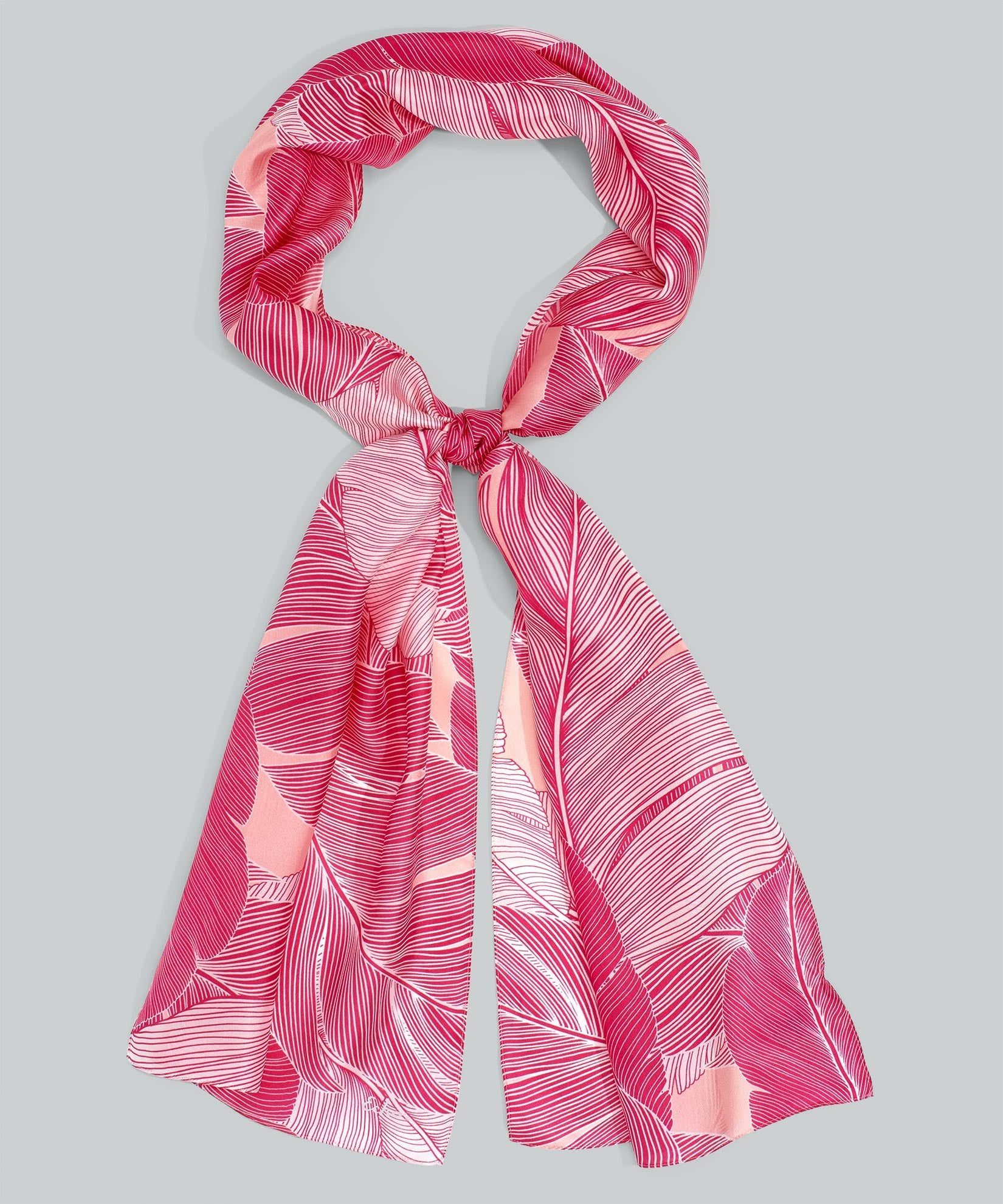 Pink Hibiscus - Tropic Palm Silk Oblong