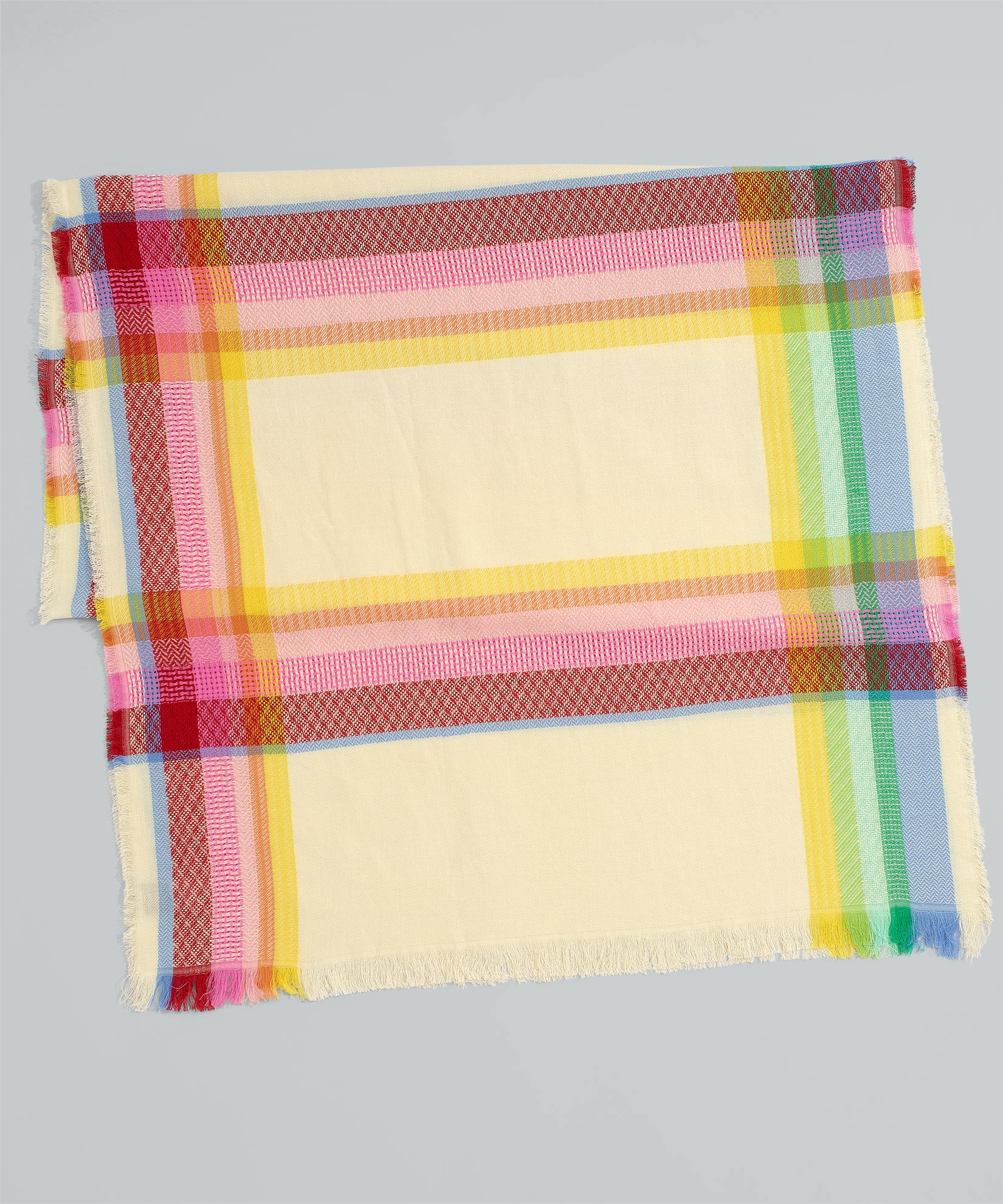 Multi - Rainbow Abstract Plaid Oblong