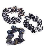Black - 3-Pack Small Scrunchie Set