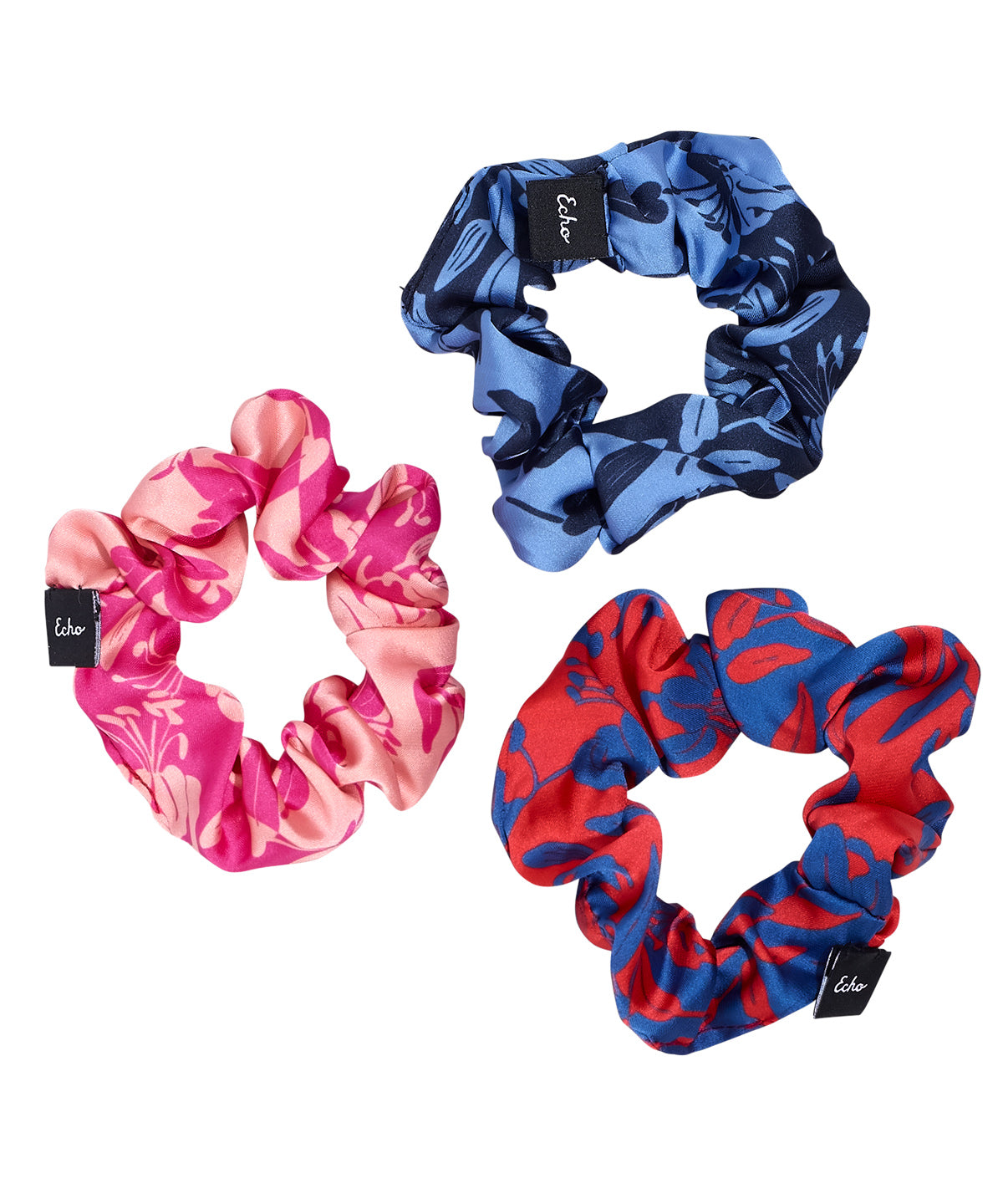 Passion Flower - 3-Pack Small Scrunchie Set