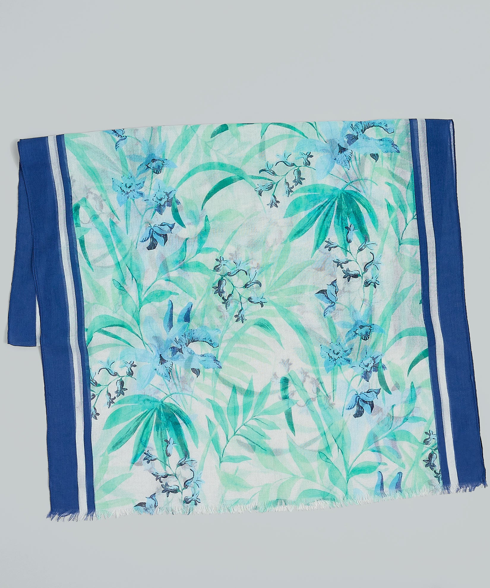 Paradise Blue - Racing Botanical Oblong