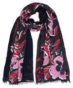 Charcoal - Fall Floral Silk Tubular