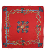 Ruby Red - Legacy Tassel Silk Square
