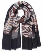 Black - Zebra Wrap