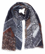 Black - Patchwork Ditsy Wrap