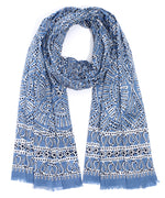 Infinity Blue - Batik Medallion Wrap