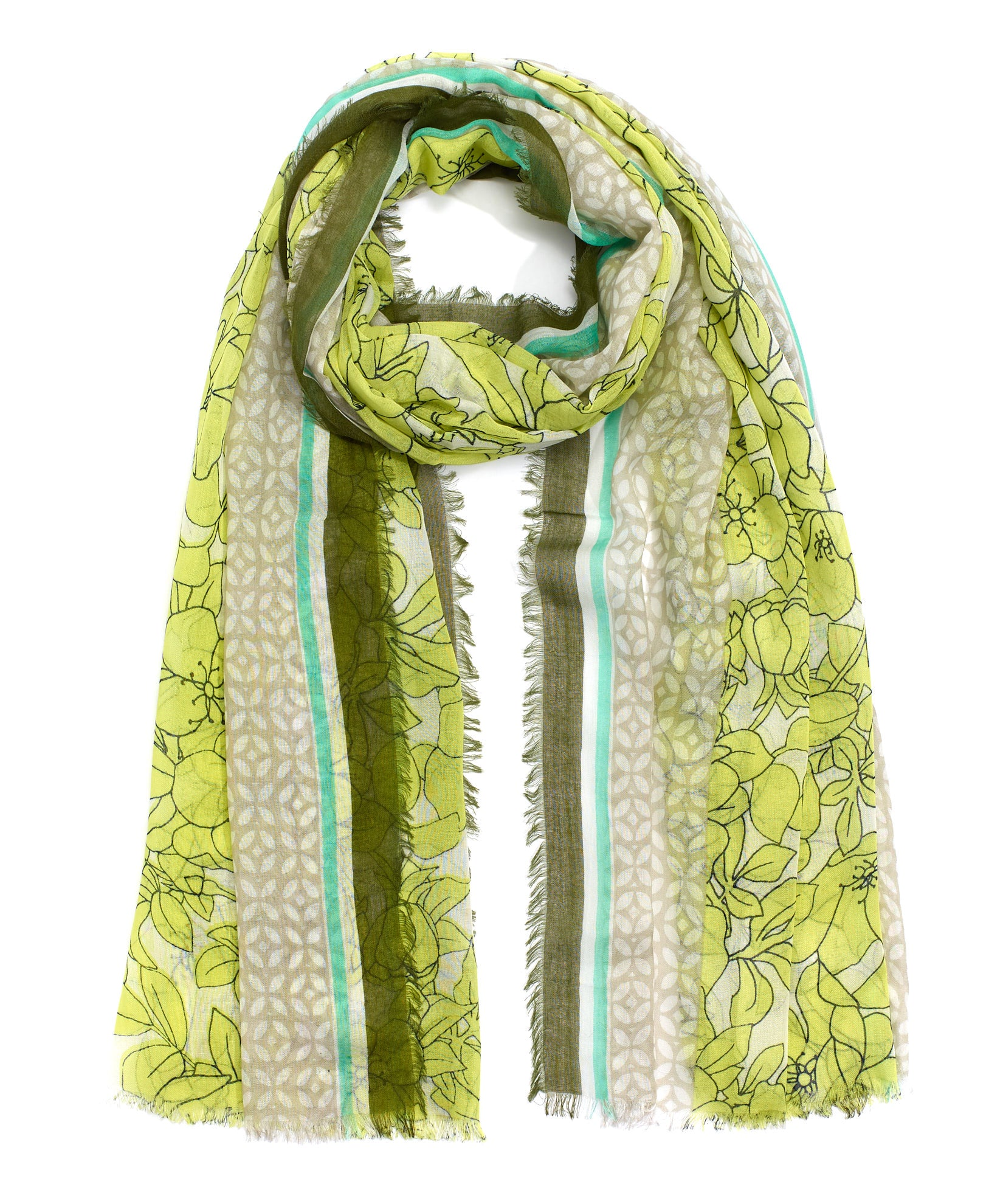 Limeade - Etched Floral Wrap